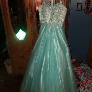 light blue prom/homecoming dress